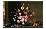 Vase de Fleurs a Cote d'Une Fenetre Prints by Balthasar van der Ast