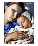 Mutter und Kind Poster von Tamara de Lempicka