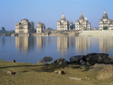 Royal Chattris (Tombs) and the River Betwa in the Early Morning Orcha, Madhya Pradesh State, India Photographic Print by Richard Ashworth