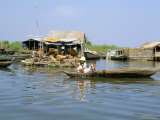 Floating Village of Prek Toal Beside Northwest of Lake Tonle Sap, Cambodia, Indochina Photographic Print by Richard Ashworth