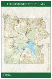 Map of Yellowstone National Park Poster