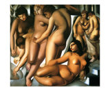 Bathing Women, c.1929 Poster by Tamara de Lempicka