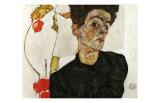 Autoportrait aux Alkekenges, c.1912 Posters by Egon Schiele