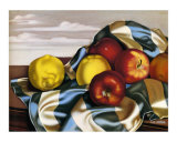 Still Life with Apples and Lemons Posters by Tamara de Lempicka