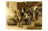 La Paye des Moissonneurs, c.1882 Prints by Léon Augustin L'hermitte