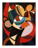 Composition, c.1936 Prints by Auguste Herbin