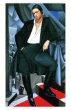Portrait of the Dutchess de la Salle, c.1925 Poster von Tamara de Lempicka