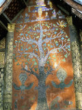 Glass Mosaic of Tree of Life on Wall of the 16th Century Sim, Wat Xiang Thong, Luang Prabang, Laos Photographic Print by Richard Ashworth