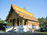 Recently Restored Wat Xieng Muan, Luang Prabang, Unesco World Heritage Site, Laos Photographic Print by Richard Ashworth