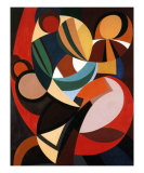 Composition, c.1936 Print by Auguste Herbin