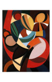 Composition, c.1936 Poster by Auguste Herbin