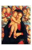 La Vierge et l'Enfant avec les Cherubins Prints by Andrea Mantegna
