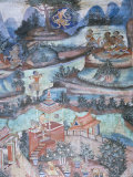 18th Century Murals Inside Lai Kham Viharn, Wat Phra Singh Temple Complex, Chiang Mai, Thailand Photographic Print by Richard Ashworth