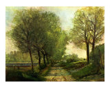 A Lane Near a Small Town Prints by Alfred Sisley