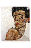 Self Portrait with Bare Shoulder, c.1912 Prints by Egon Schiele