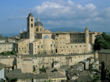 View from the North of the Old Centre of Urbino with the Cathedral Left and Palazzo Ducale Right Photographic Print by Richard Ashworth