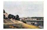 Chateau Thierry, Vue d'Ensemble Posters by Jean-Baptiste-Camille Corot