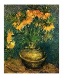 Fritillaires dans un Vase de Cuivre, c.1886 Poster von Vincent van Gogh