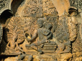 Sculpture of Siva, Holding His Wife Uma, Temple of Banteay Srei, Angkor Photographic Print by Richard Ashworth