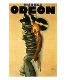 Disques Odeon, c.1932 Kunstdrucke von Paul Colin