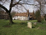 Half Timbered Cottages in the Church Graveyard at Old Hatfield, Hertfordshire, England Photographic Print by Richard Ashworth