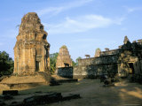 Towers at West of Bakong Temple, Earliest of Angkor Temples, Unesco World Heritage Site Photographic Print by Richard Ashworth
