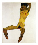 Nu Masculin Assis I, c.1910 Poster by Egon Schiele