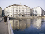 Hotel Des Bergues Beside Lake, Geneva, Switzerland Photographic Print by Richard Ashworth