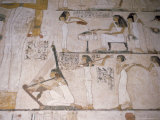 Wall Paintings in the Tomb of Rehunire (Rekhmire), Valley of the Nobles, Thebes, Egypt Photographic Print by Richard Ashworth