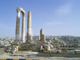 Columns of a Roman Temple, Dating from 161-166 AD, Jordan Photographic Print by Richard Ashworth