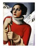 St. Maurice, c.1929 Posters av Tamara de Lempicka