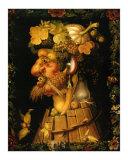 Autumn, c.1573 Plakater af Giuseppe Arcimboldo