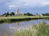 River Nene and Fotheringay Church, Northamptonshire, England, United Kingdom Photographic Print by Richard Ashworth