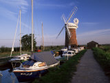 Horsey Windmill, Norfolk Broads, Norfolk, England, United Kingdom Photographic Print by Charcrit Boonsom