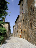 Oldest Building in the Best Preserved Fortified Medieval Village in Tuscany Photographic Print by Pearl Bucknall