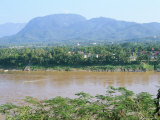 Looking East Across the Mekong River, to Luang Prabang, Laos, Indochina, Southeast Asia Photographic Print by Richard Ashworth