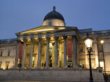 National Gallery at Dusk, Trafalgar Square, London, England, United Kingdom Photographic Print by Charles Bowman