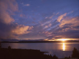 Sunrise, Lake Pukaki, Southern Alps, Canterbury, South Island, New Zealand Photographic Print by Jeremy Bright