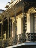 Wrought Ironwork on Balcony, French Quarter, New Orleans, Louisiana, USA Photographic Print by Charles Bowman