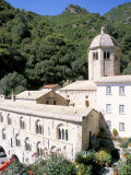 Benedictine Abbey of San Fruttuosa, Headland of Portofino, Liguria, Italy Photographic Print by Richard Ashworth