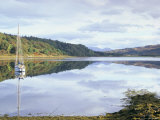 Yacht on Loch Feochan in Autumn, Argyll and Bute, Scotland, United Kingdom Photographic Print by Pearl Bucknall