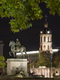 Statue in the Place Bellecour, Lyon, Rhone, France Photographic Print by Charles Bowman