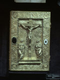 Gold Book Binding Dating from the 16th Century Showing Christian Scene of Crucifixion Photographic Print by Richard Ashworth