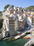 Village of Riomaggiore, Cinque Terre, Unesco World Heritage Site, Liguria, Italy Photographic Print by Richard Ashworth