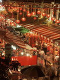 Lanterns and Stalls, Chinatown, Singapore, Southeast Asia Photographic Print by Charcrit Boonsom