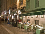 Restaurants on Rue Des Marronniers, Lyon, Rhone, France Photographic Print by Charles Bowman