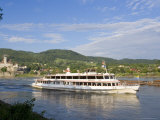 River Cruise Steam Boat and Schloss Schonbuhel, Wachau, Lower Austria, Austria Photographic Print by Charles Bowman