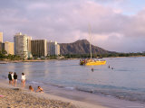 Diamond Head, Waikiki Beach, Honolulu, Hawaiian Islands, USA Photographic Print by Charles Bowman
