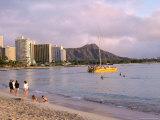 Diamond Head, Waikiki Beach, Honolulu, Hawaiian Islands, USA Photographic Print by Charles Bowman