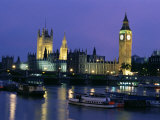 Houses of Parliament Across the River Thames, London, England, United Kingdom Photographic Print by Charles Bowman